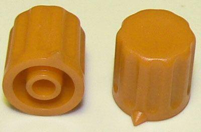 Přístrojový knoflík KP1404, 14x15mm, hřídel 4mm, okrový