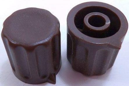 Přístrojový knoflík KP1404, 14x15mm, hřídel 4mm, hnědý