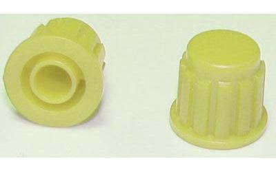 Přístrojový knoflík KP106, 15x16mm, hřídel 6mm, žlutý