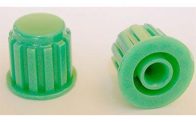 Přístrojový knoflík KP106, 15x16mm, hřídel 6mm, zelený