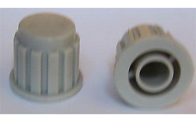 Přístrojový knoflík KP106, 15x16mm, hřídel 6mm, šedý