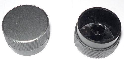 Přístrojový knoflík 27x13mm na hřídel 4mm se zkosením