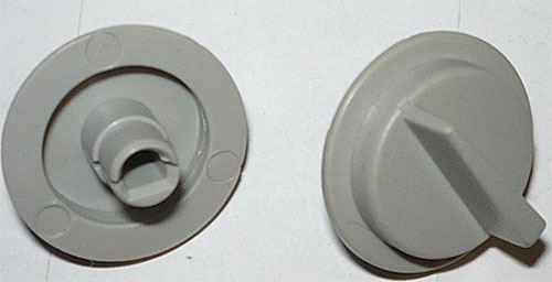 Přístrojový knoflík 32x7mm na hřídel 4mm se zkosením