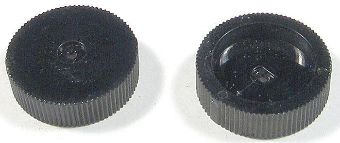 Přístrojový knoflík 22x6mm na hřídel 4mm