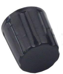 Přístrojový knoflík K16-2 19x16mm, hřídel 4mm, černý