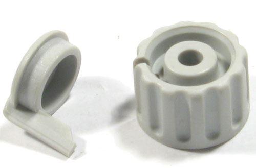 Přístrojový knoflík KPP1404, 18x12mm, hřídel 4mm, včetně krytky, šedý
