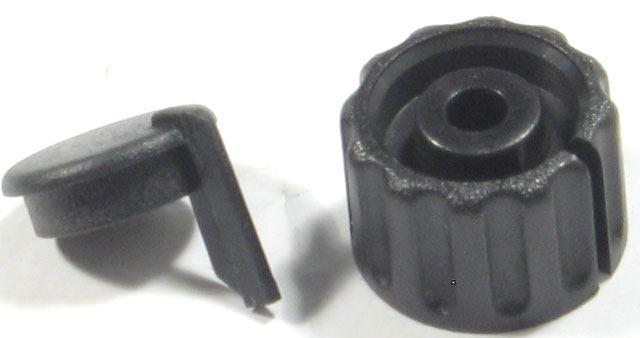 Přístrojový knoflík KPP1404, 18x12mm, hřídel 4mm, včetně krytky, černý