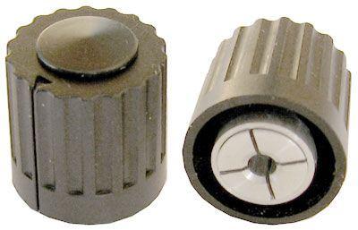 Přístrojový knoflík WF24309, průměr 16mm, hřídel 3mm černý