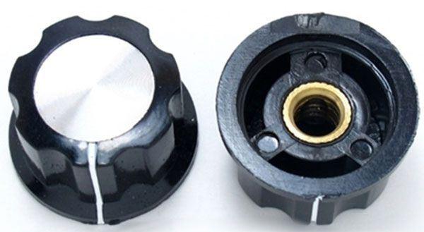 Přístrojový knoflík MF-A02 23x15mm, hřídel 6mm