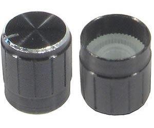 Přístrojový knoflík 18T 15x17mm, hřídel 6mm černý