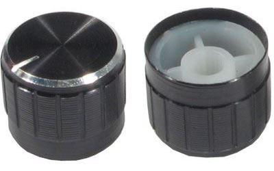 Přístrojový knoflík 18T 21x17mm, hřídel 6mm černý