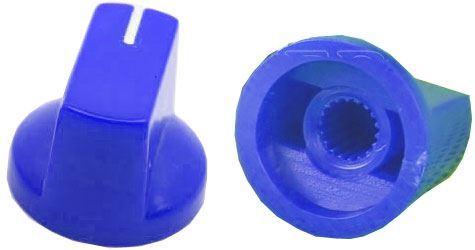 Přístrojový knoflík KN19 19x14,5mm, hřídel 6mm, modrý