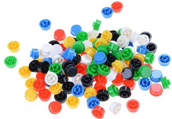 Hmatníky pro mikrospínač 12x12mm 6 barev, balení 60ks