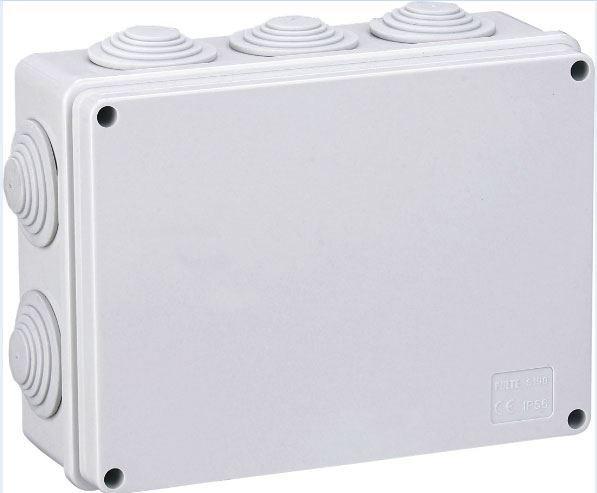 Instalační krabička S190, 190x140x70mm, 10x průchodka