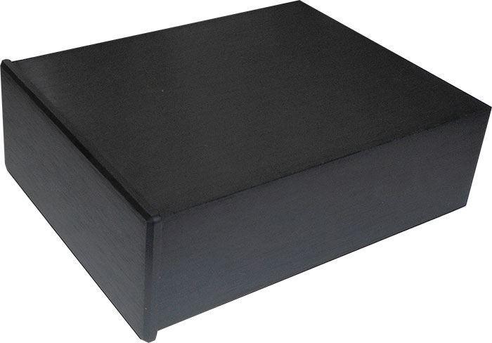 Krabička hliníková dvoudílná eloxovaná černá, 100x128x40mm