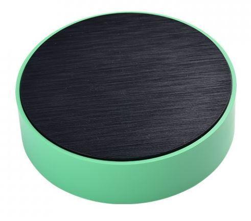 Krabička plastová kruhová, 100x32mm, černá/zelená ABS