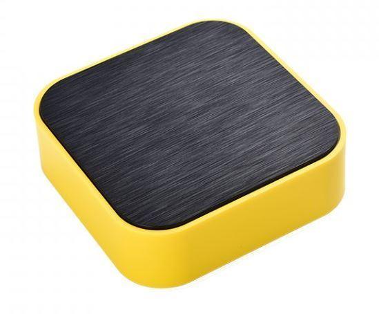 Krabička plastová, 98x98x32mm, černá/žlutá ABS