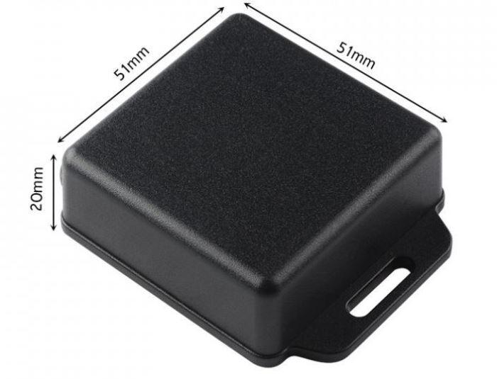 Krabička plastová černá, 51x51x20mm, ABS