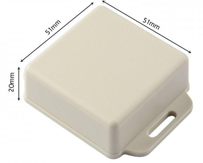 Krabička plastová šedá, 51x51x20mm, ABS