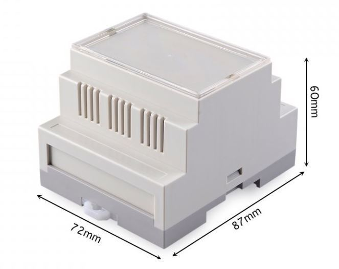 Krabička plastová šedá, 72x87x60mm, ABS
