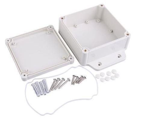 Krabička plastová šedá, 120x55x168mm, ABS
