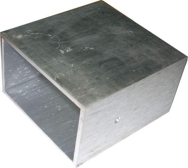 Krabička hliníková dvoudílná 104x100x60mm-pouze vnější plášť