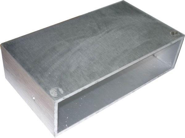 Krabička hliníková dvoudílná 180x100x50mm-pouze vnější plášť