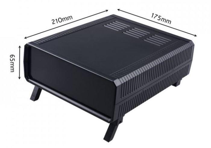 Krabička plastová černá, 175x210x65mm, ABS