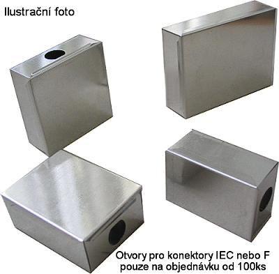 Krabička plechová 40x30x17mm s víčkem