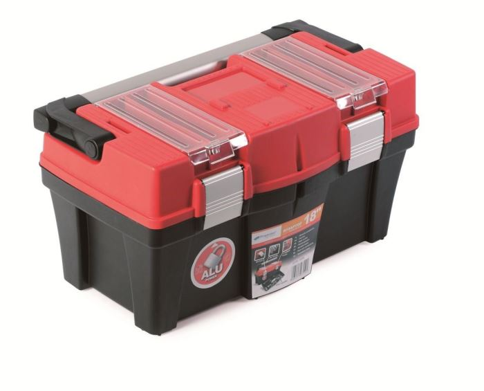 Plastový kufr na nářadí APTOP PLUS červený 458x257x245