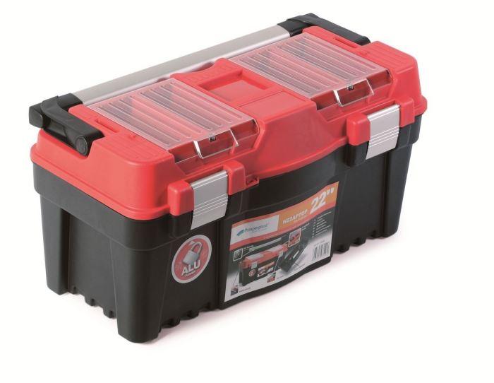 Plastový kufr na nářadí APTOP PLUS červený 550x267x277