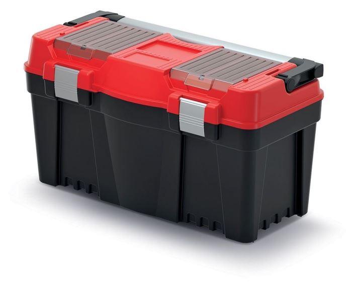 Plastový kufr na nářadí APTOP PLUS červený 598x286x327
