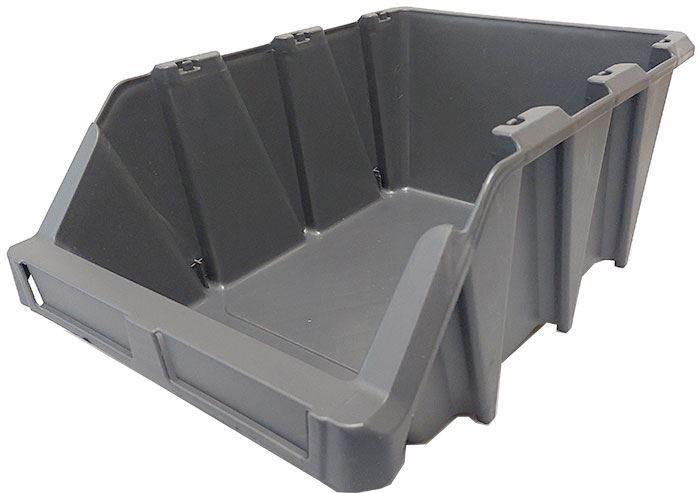 Stohovací bedna plastová KPA35, 265x420x168mm, šedá