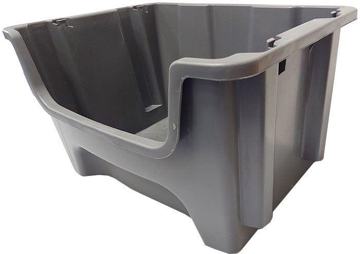 Stohovací bedna plastová KPA500, 490x400x300mm, šedá