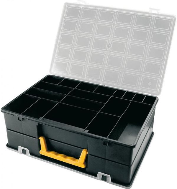 Krabička 360x252x128mm 2x18sekcí, poškozená