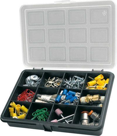 Krabička na součástky 180x128x32mm 12 sekcí, ArtPlast 2300