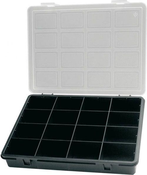 Krabička na součástky 242x188x37mm 16 sekcí, ArtPlast 3300