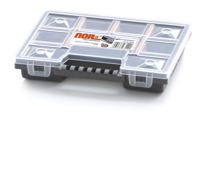 Krabička na součástky 195x155x35mm NOR08