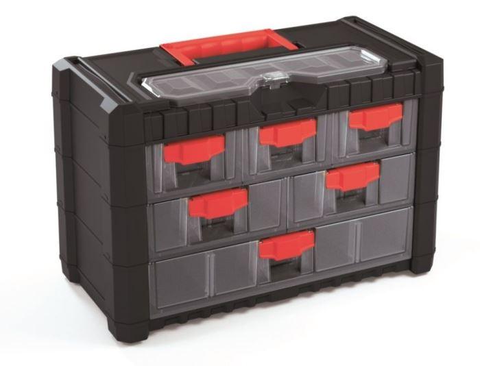 Kufr na součástky se šuplíky 40x20x26cm MULTICASE CARGO NS303