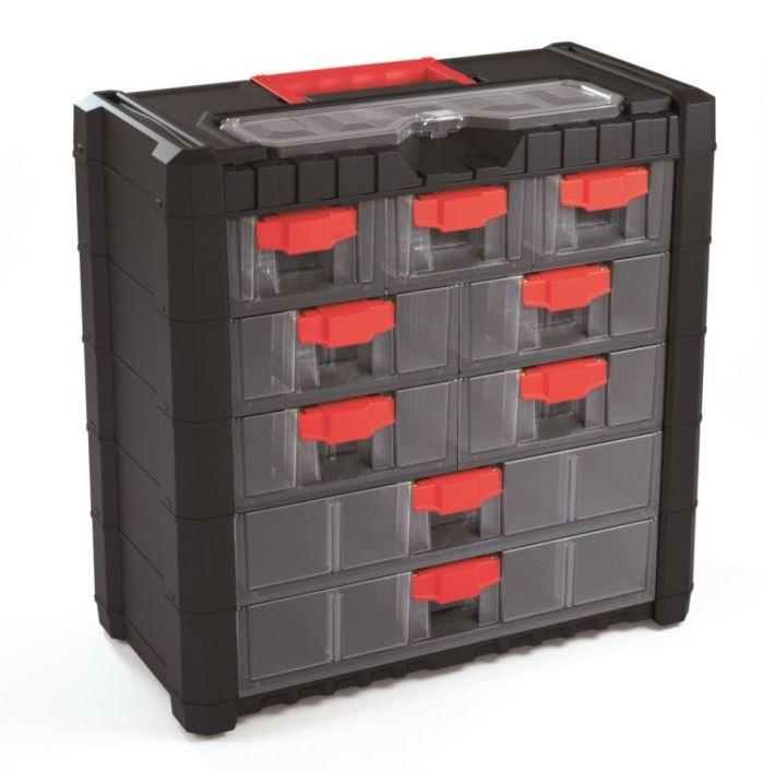 Kufr na součástky se šuplíky 40x20x39cm MULTICASE CARGO NS501