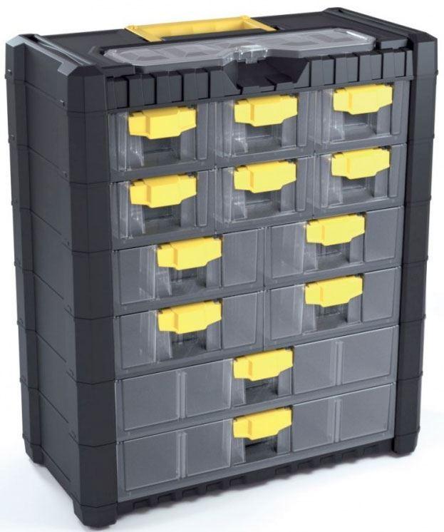 Kufr na součástky se šuplíky 40x20x46cm MULTICASE CARGO NS601
