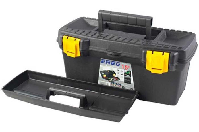 """Kufr na nářadí 15"""" plastový ERGO Basic"""