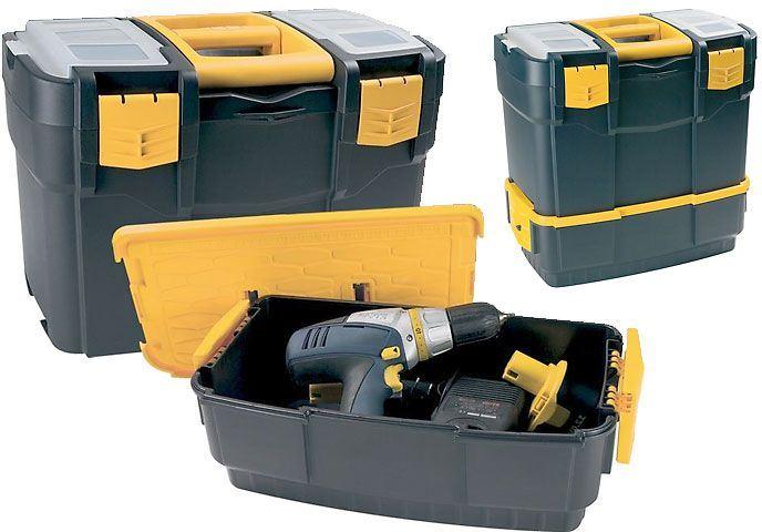 Kufr na nářadí dvoudílný plastový 460x280x455mm, ArtPlast 6700V