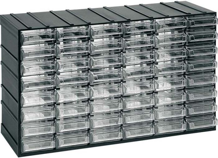 Závěsná skříňka stohovací 382x230x148mm -48 krabiček