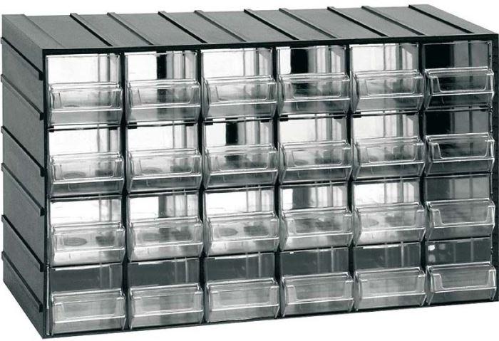Závěsná skříňka stohovací 382x230x148mm - 24 krabiček
