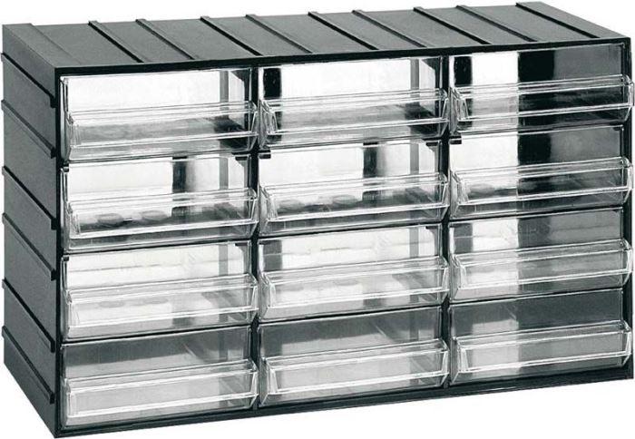 Závěsná skříňka stohovací 382x230x148mm - 12 krabiček
