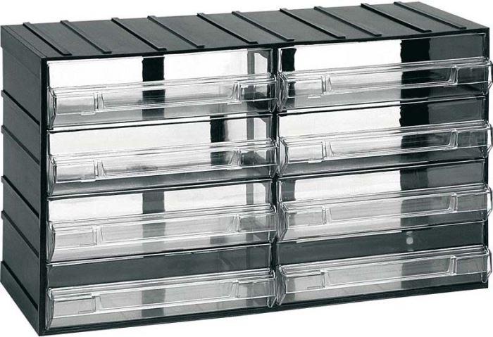 Závěsná skříňka stohovací 382x230x148mm - 8 krabiček