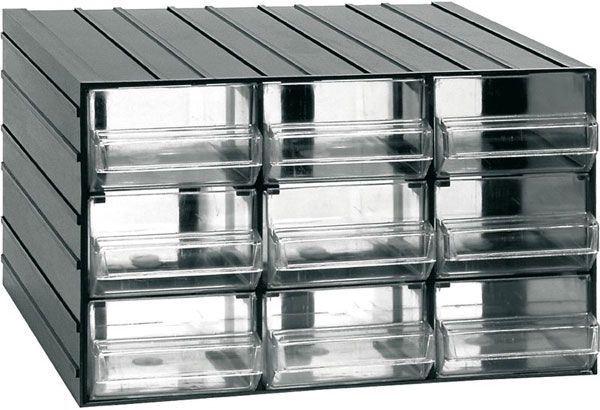Závěsná skříňka stohovací 382x290x230mm - 9 krabiček