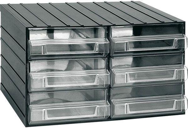 Závěsná skříňka stohovací 382x290x230mm - 6 krabiček