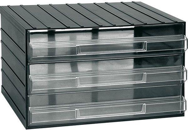 Závěsná skříňka stohovací 382x290x230mm - 3 krabičky